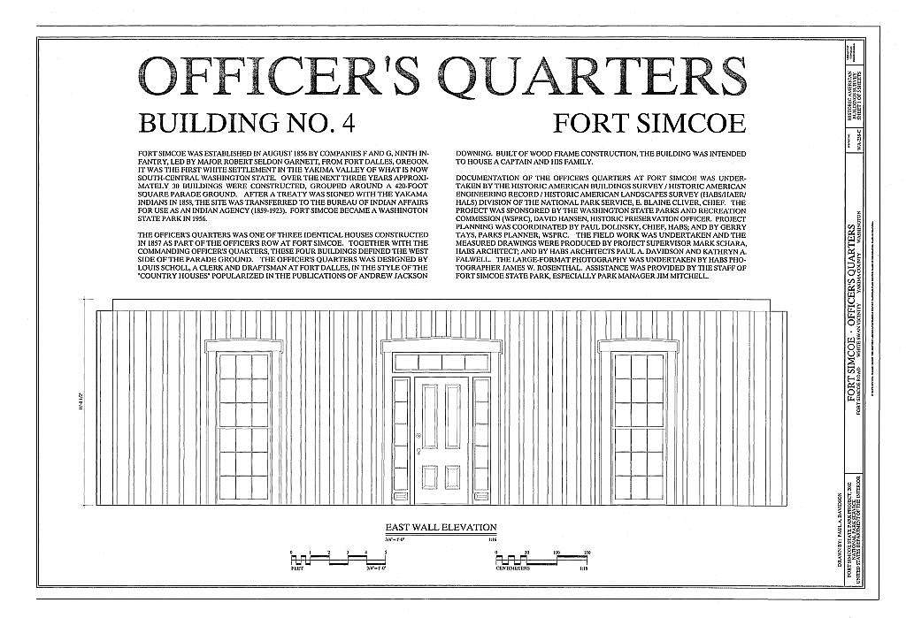 Fort Simcoe, Officer's Quarters, Fort Simcoe Road, White Swan, Yakima County, WA