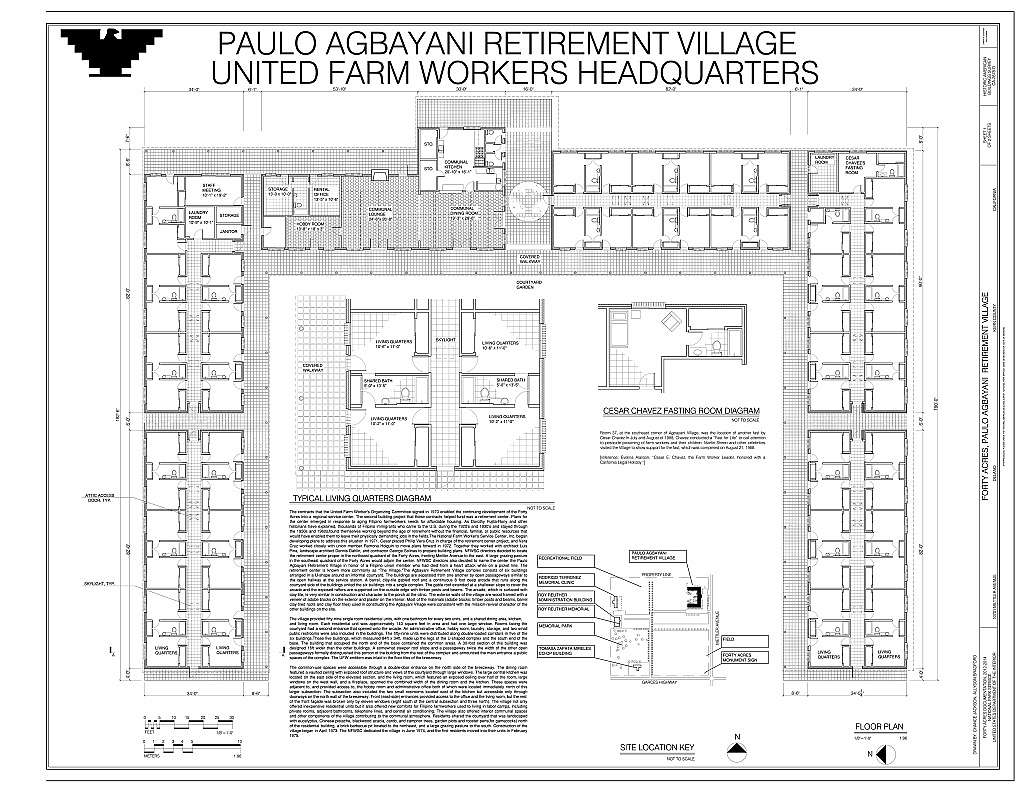 Forty Acres, Paulo Agbayani Retirement Village, 10701 Mettler Avenue, Delano, Kern County, CA