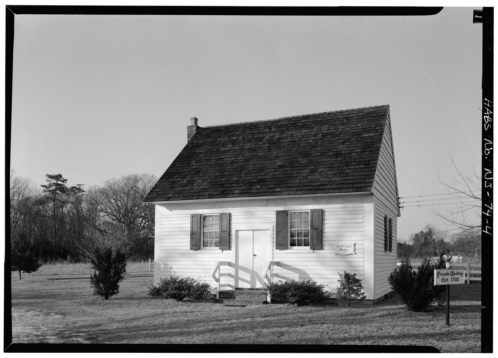 Friends' Meeting House, Shore Road, West side (State Route 9), Seaville, Cape May County, NJ