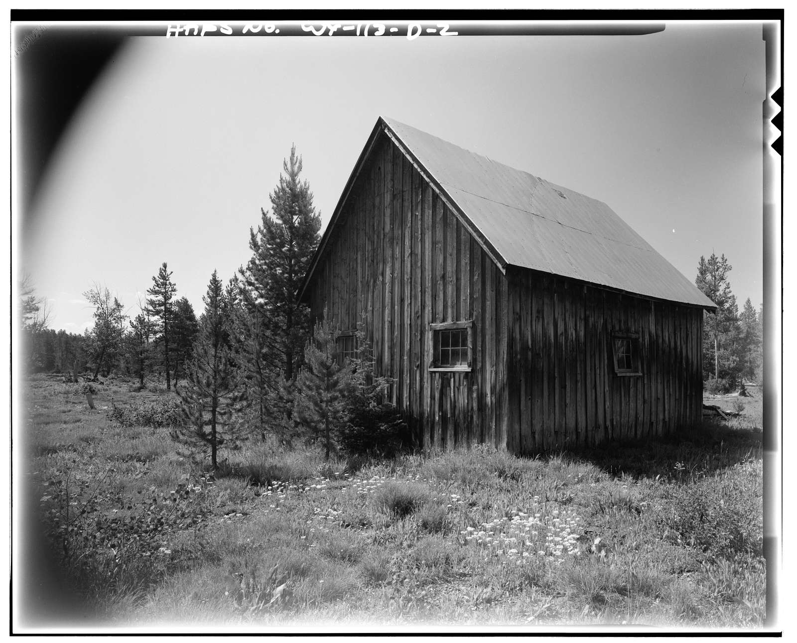 Geraldine Lucas Homestead, Garage, West bank Cottonwood Creek, 2.5 miles downstream from Jenny Lake, Moose, Teton County, WY