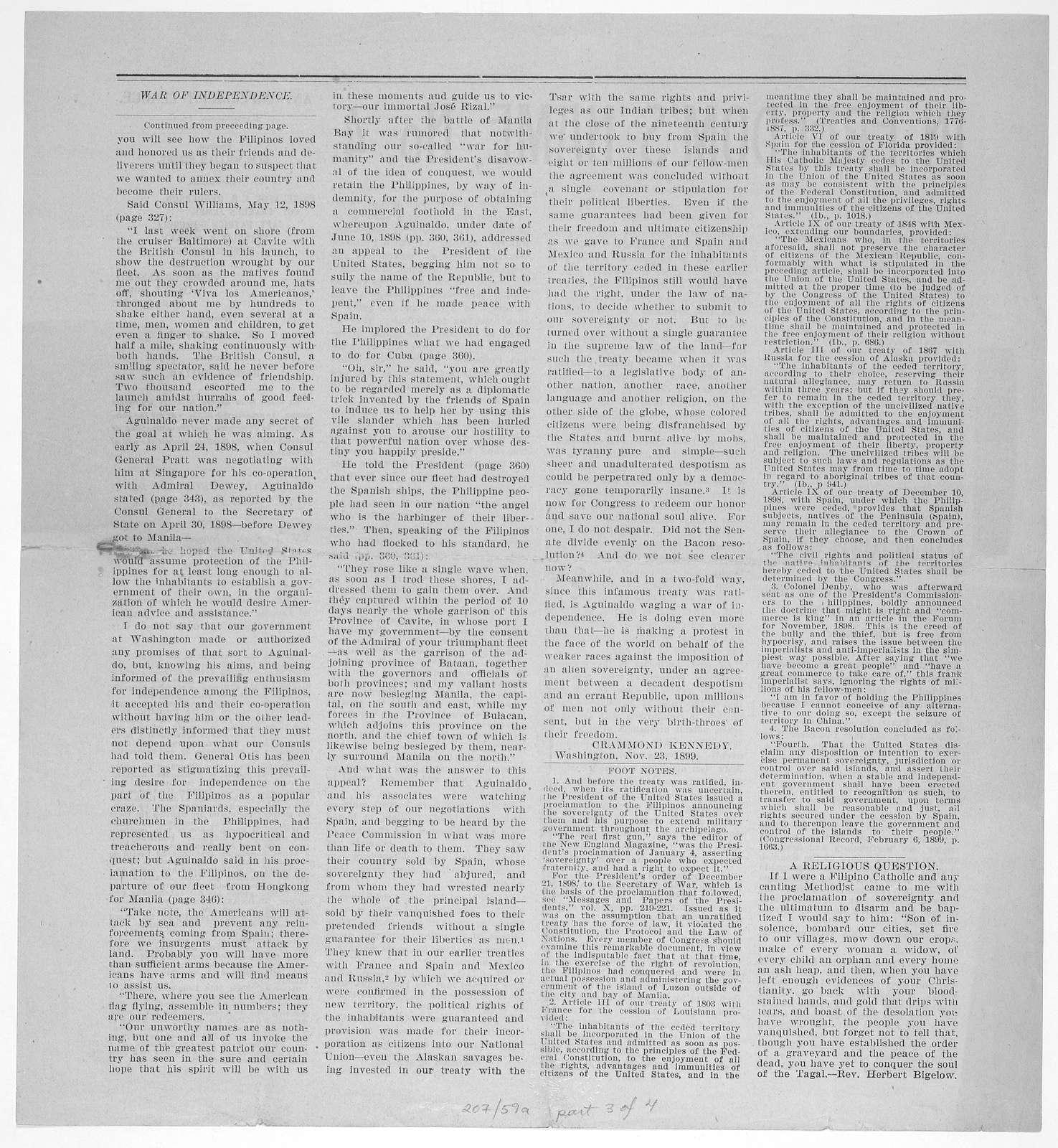In freedom's name, no. 2[-5] Washington [1899].