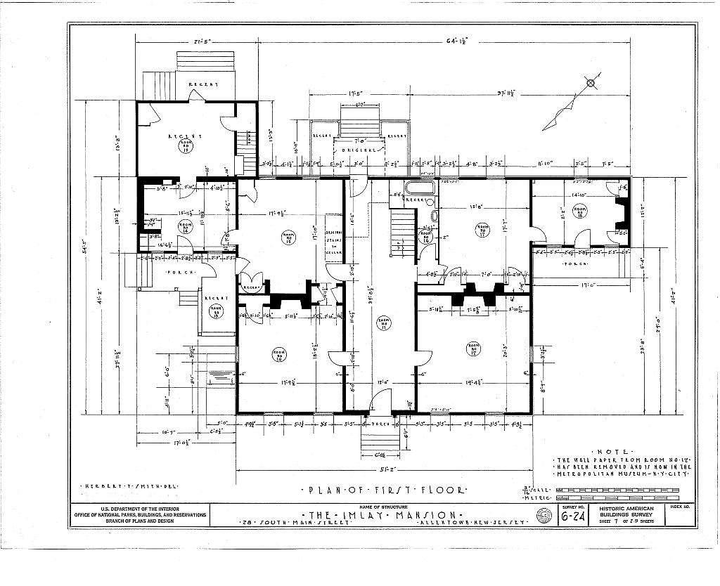 John Imlay Mansion, 28 South Main Street, Allentown, Monmouth County, NJ