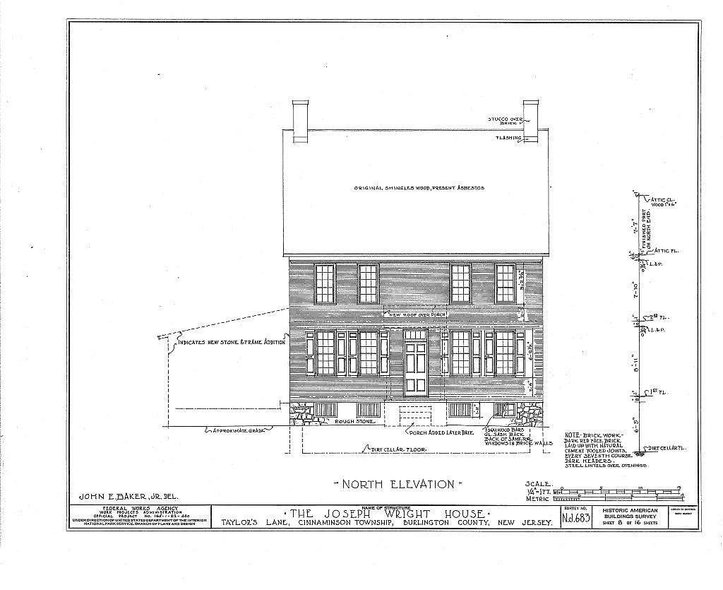Joseph Wright House, Taylor's Lane, Riverton, Burlington County, NJ