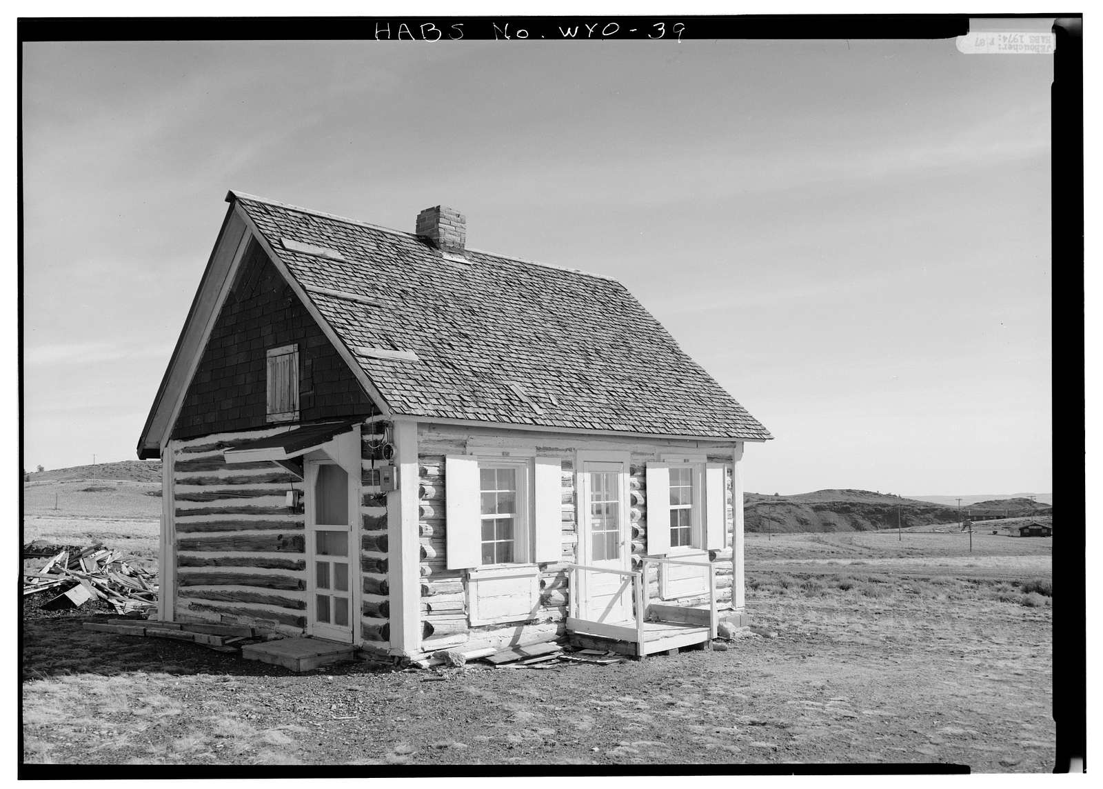 Libby Cabin, State Route 28, (moved from South Pass City vicinity), South Pass City, Fremont County, WY