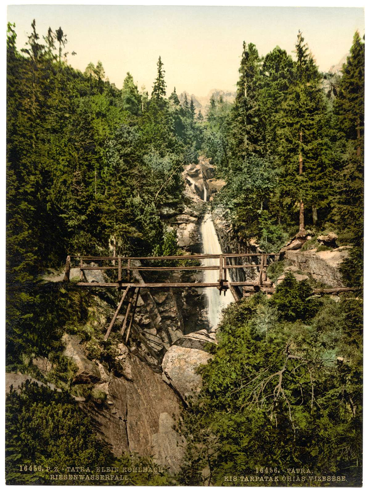 [Little Kohlbach, Riesen waterfall, Austro-Hungary]