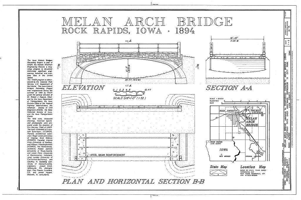 Melan Arch Bridge, Emma Slater Park (Moved from Dry Run Creek), Rock Rapids, Lyon County, IA