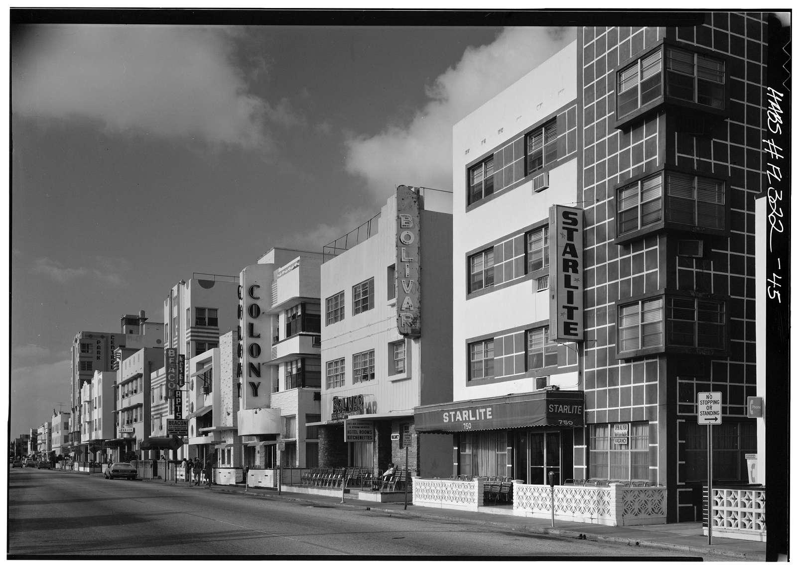 Miami Beach Art Deco Historic District, Miami, Miami-Dade County, FL