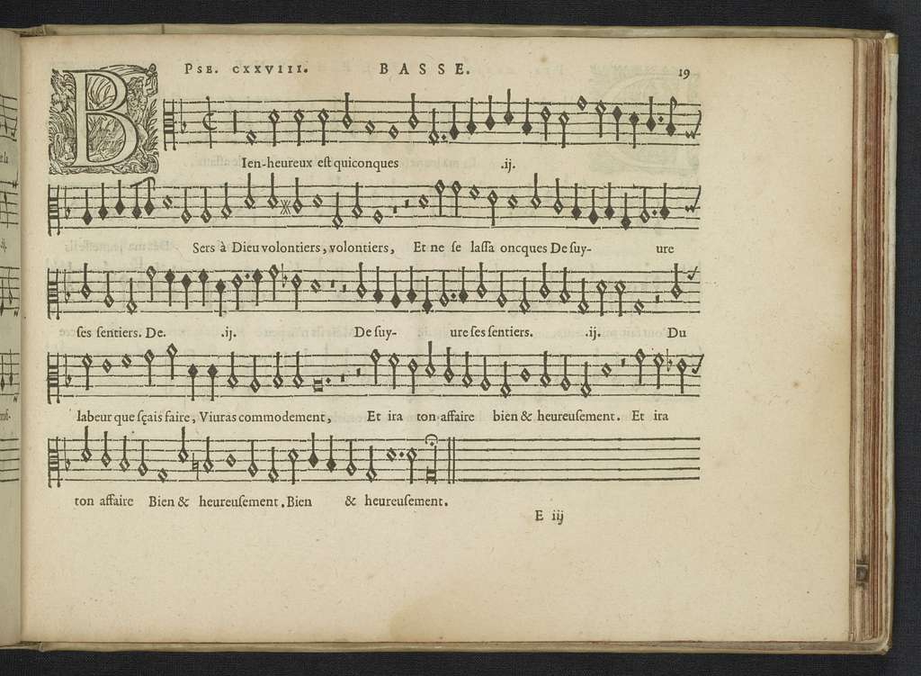 Octave et Basse Pseaumes de David and sacred part songs from Claude Le Jeune, Jan Peiterszoon Sweelinck, Paschal de L'Estocart, Orlando di Lasso, Jan Tollius in the 16th and the early17th century