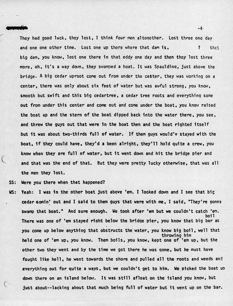 Oral history with 78 year old male, Lewiston, Idaho  (Transcript)