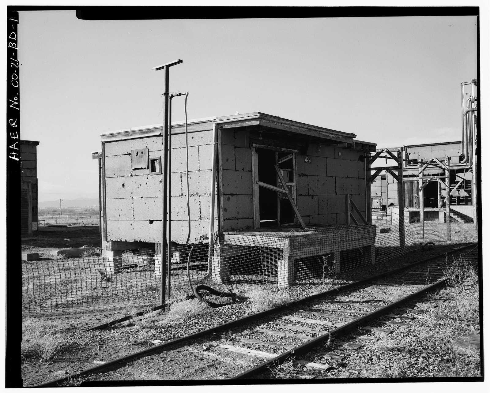 Rocky Mountain Arsenal, Mustard Brine Mixing Building, 1180 feet South of December Seventh Avenue; 440 feet East of D Street, Commerce City, Adams County, CO