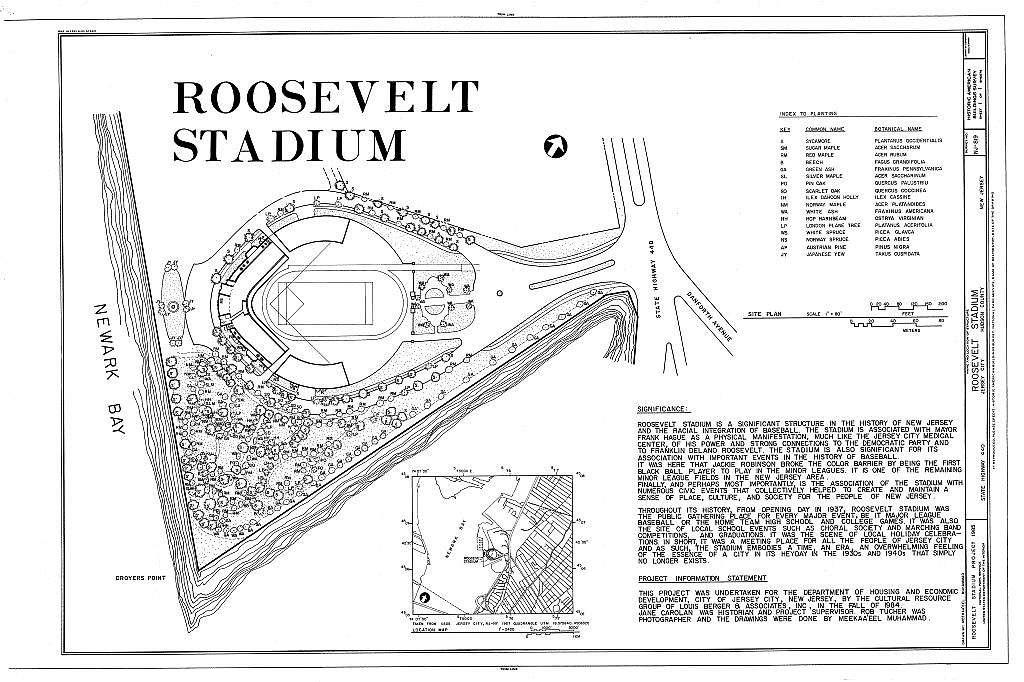 Roosevelt Stadium, State Route 440 & Danforth Avenue, Jersey City, Hudson County, NJ