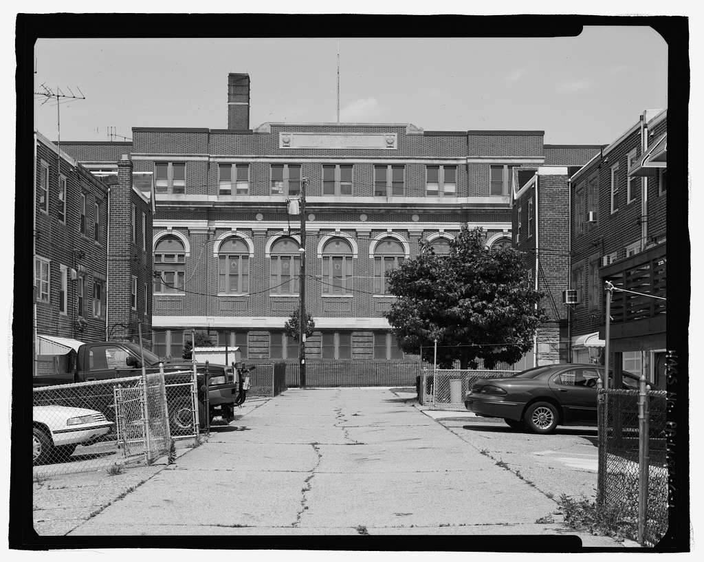 Tacony, Hamilton Disston School, North side of 4400 block of Knorr Street, between Cottage & Gillespie Streets, Philadelphia, Philadelphia County, PA
