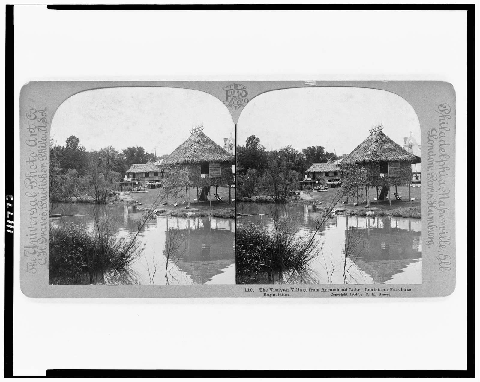 The Visayan village from Arrowhead Lake, Louisiana Purchase Exposition