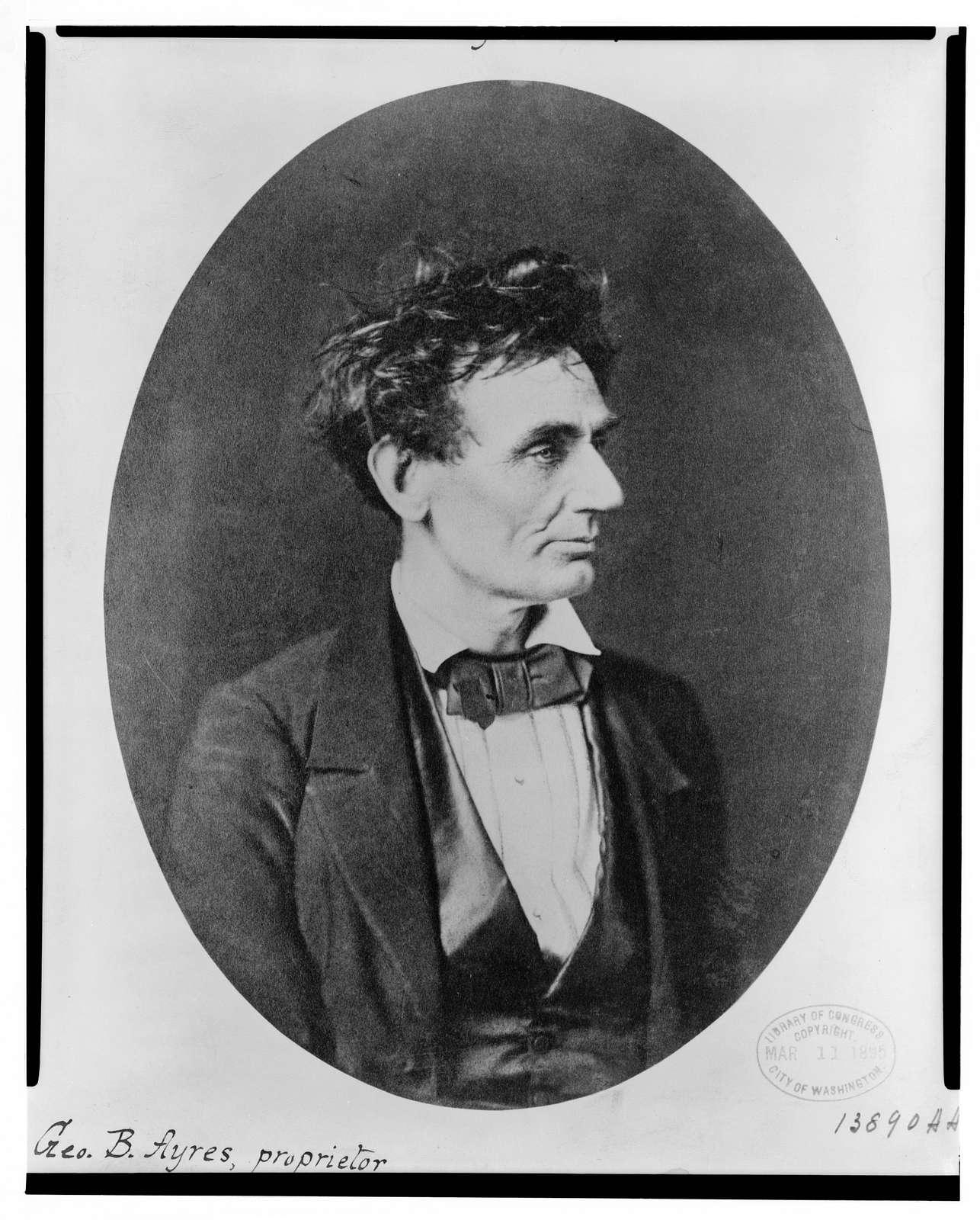 [Abraham Lincoln: Immediately prior to Senate nomination, Chicago, Illinois]