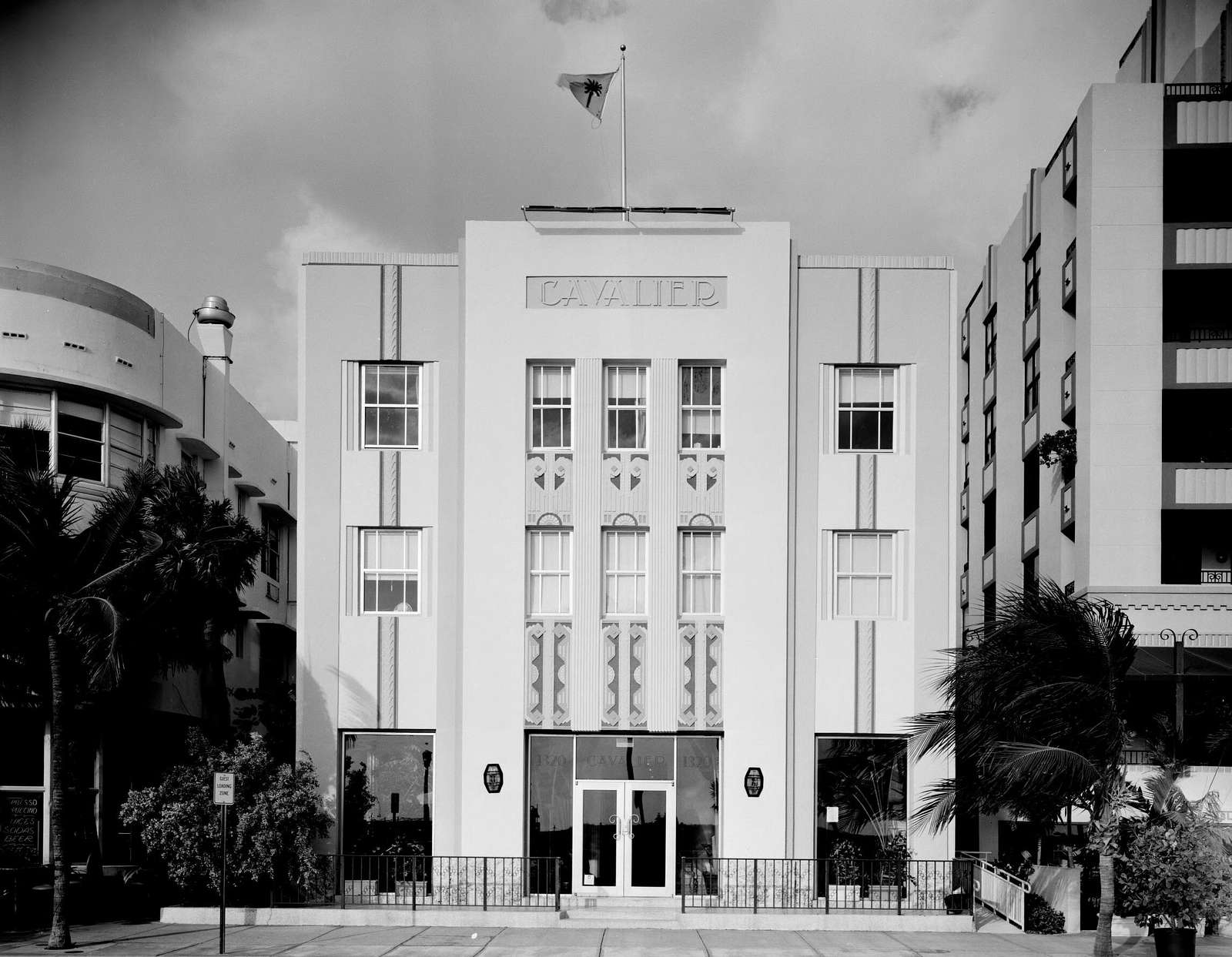 Art deco building in South Beach neighborhood of Miami Beach, Florida