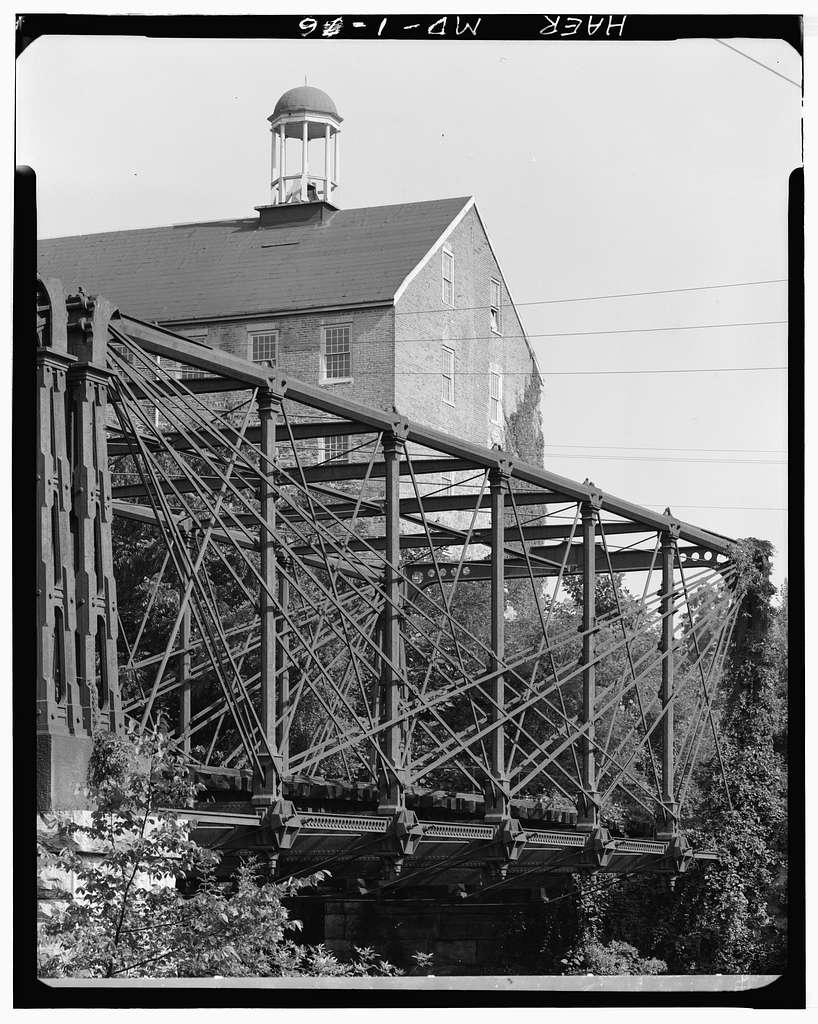 Baltimore & Ohio Railroad, Bollman Truss Bridge, Spanning Little Patuxent River, Savage, Howard County, MD