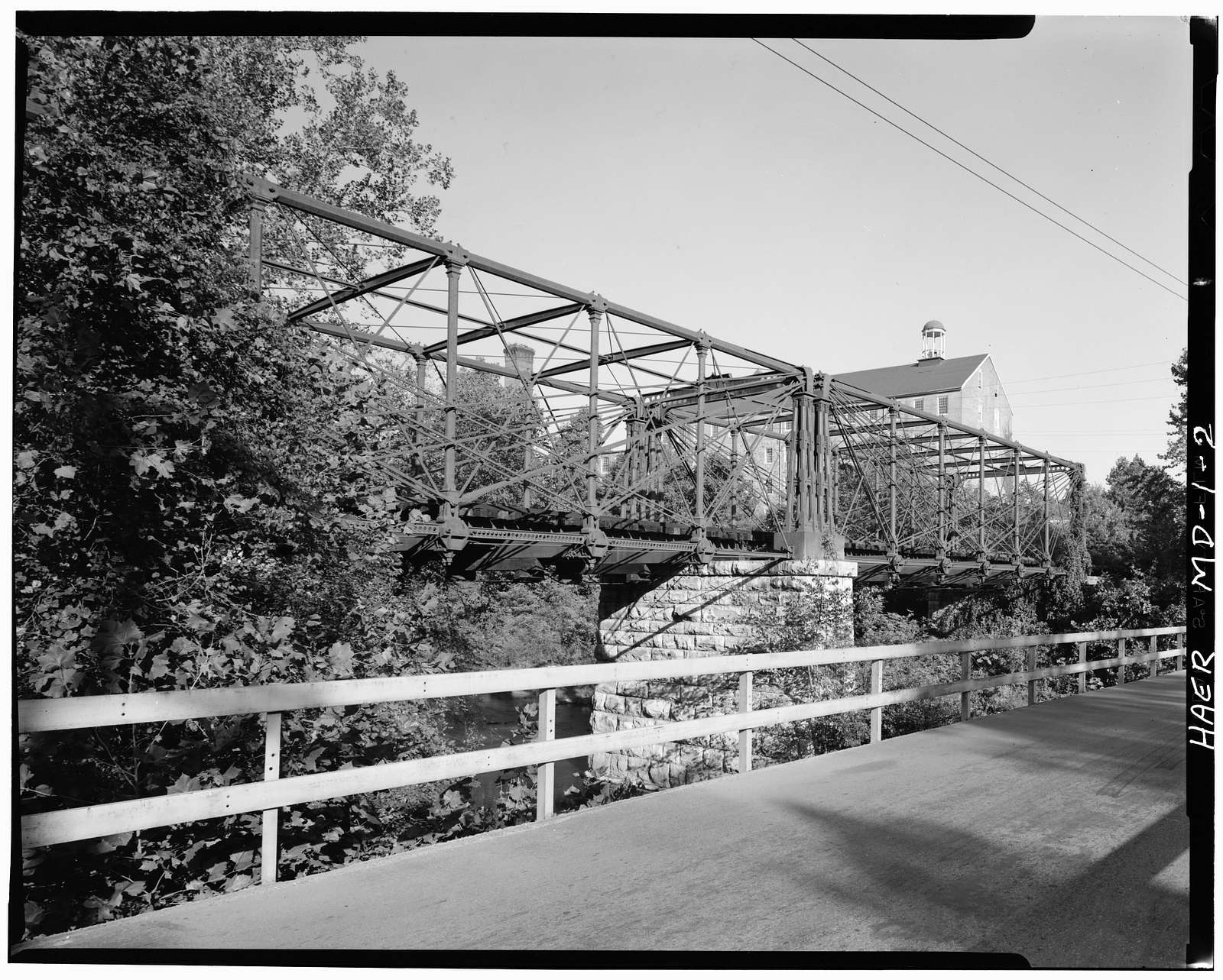 Baltimore & Ohio Railroad, Bollman Truss Bridge, Spanning Little Patuxent River, Savage, Howard County, MD