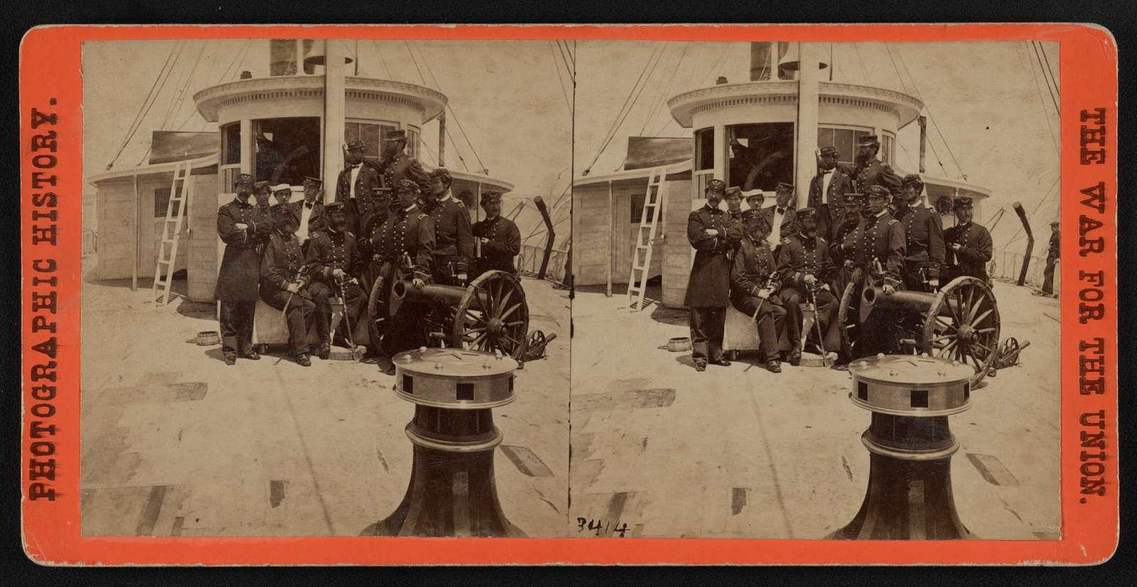Captain Gillespie and officers of flagship Philadelphia, Charleston Harbor, S.C.