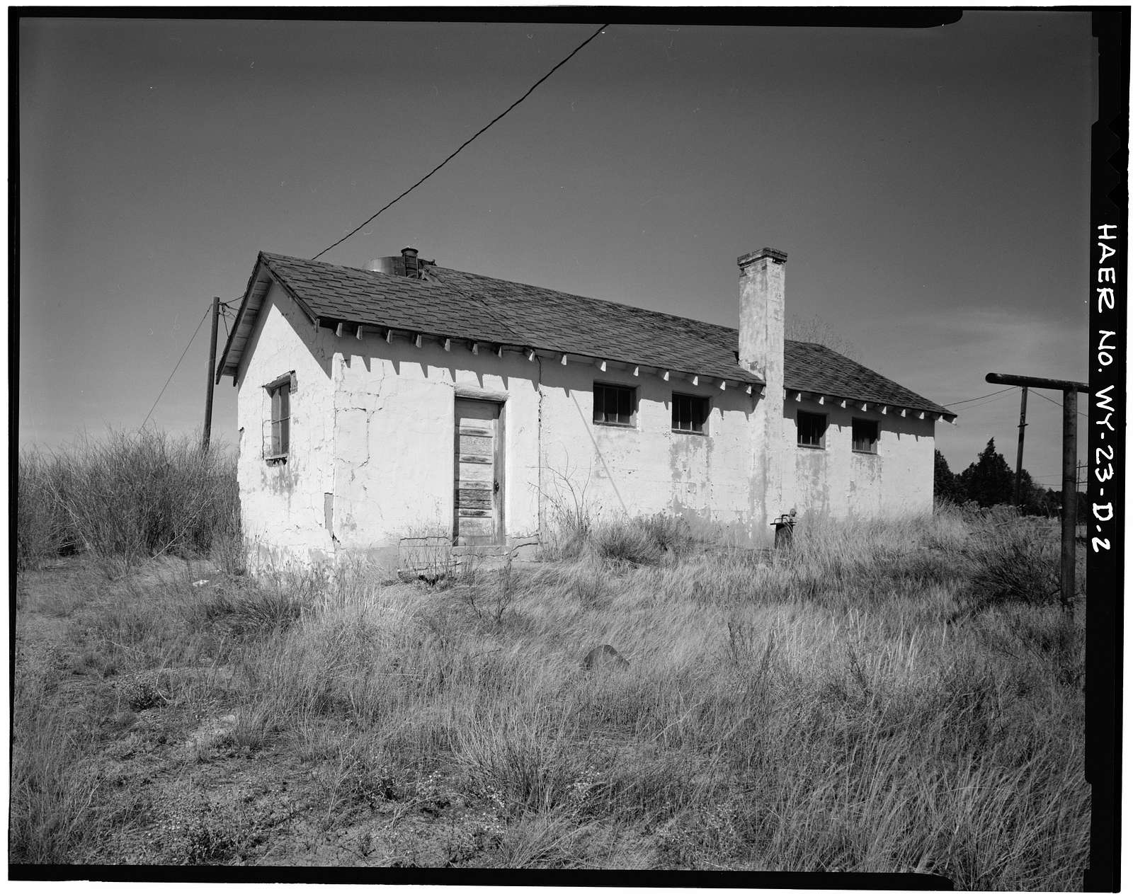 Clay Spur Bentonite Plant & Camp, Bath House, Clay Spur Siding on Burlington Northern Railroad, Osage, Weston County, WY
