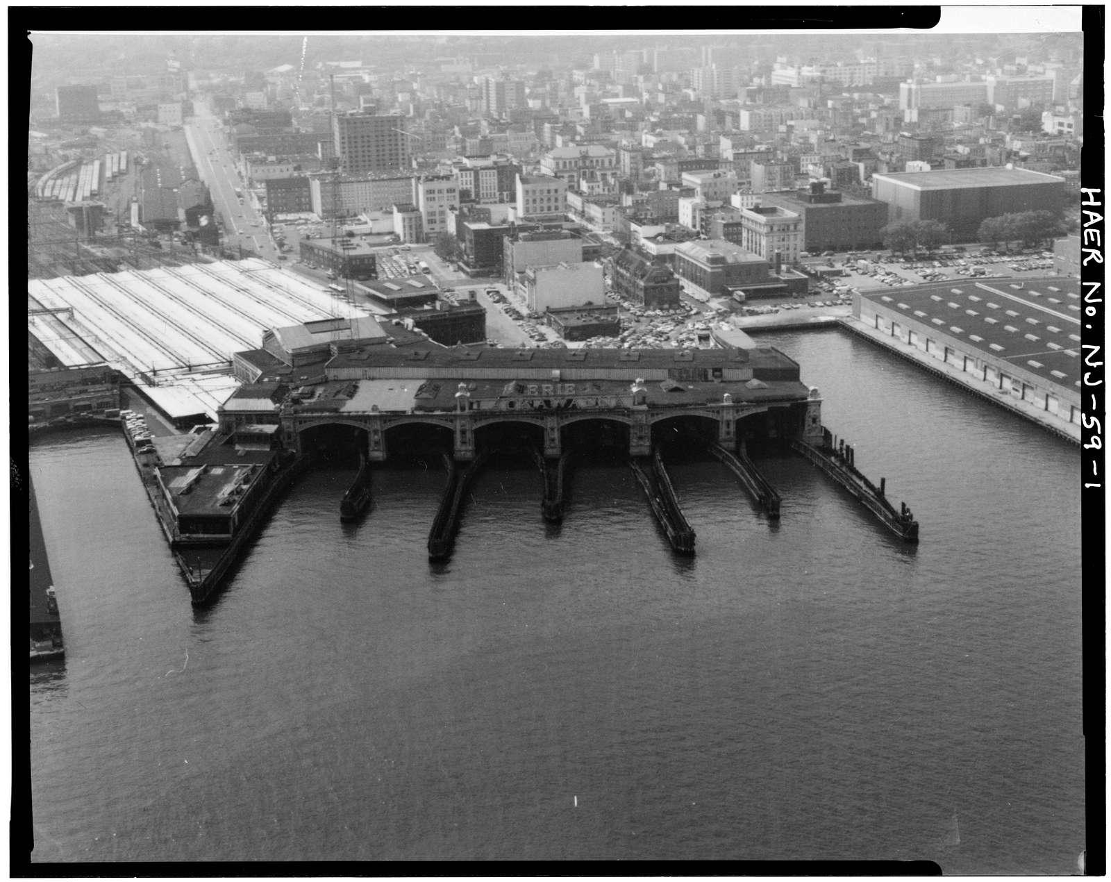 Delaware, Lackawanna & Western Railroad & Ferry Terminal, Ferry Slips & Bridges, Bounded by Observer, Newark & River Streets, Hudson River, Hoboken, Hudson County, NJ
