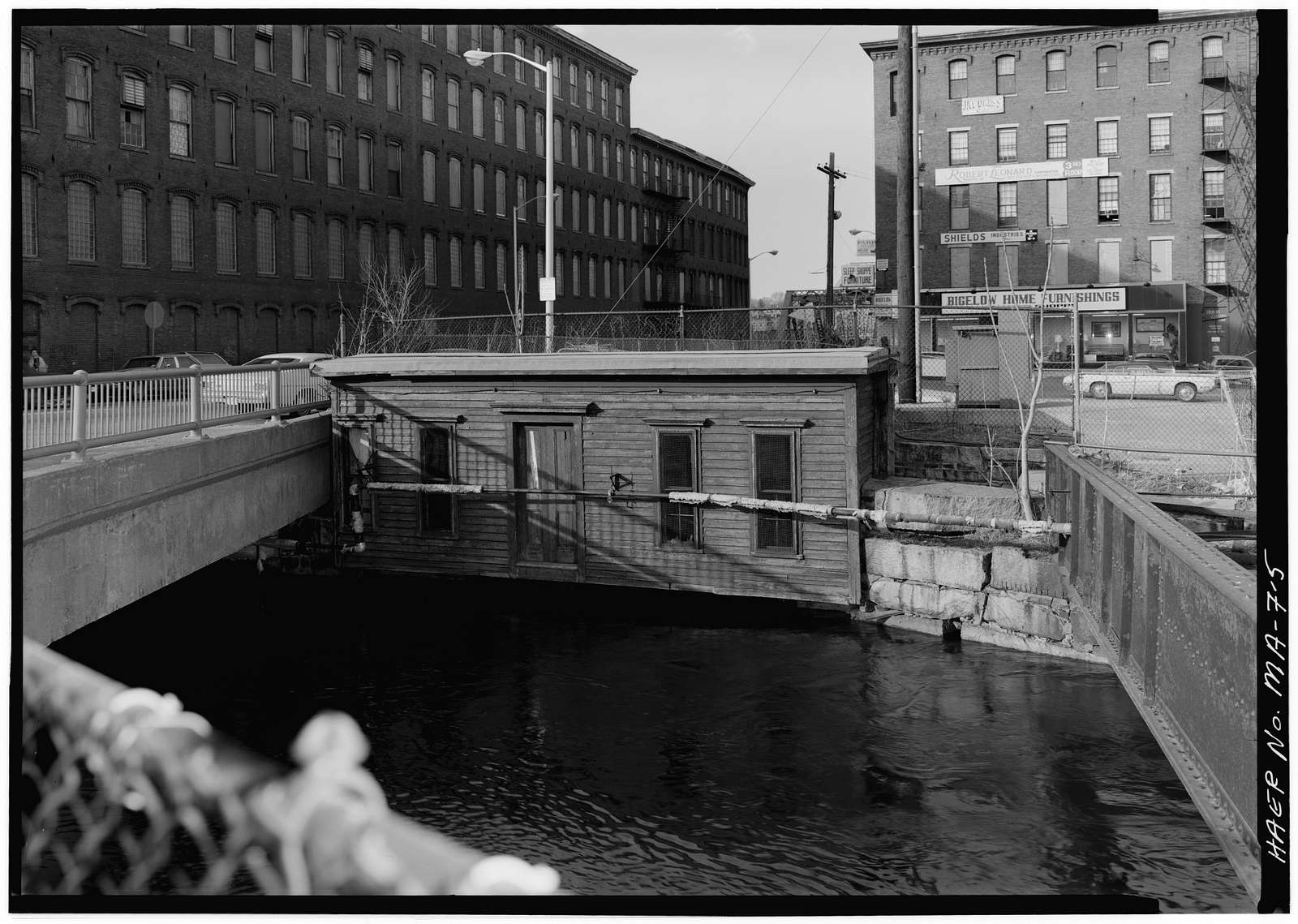 Eastern Canal, Bridge & Armory Streets vicinity, Lowell, Middlesex County, MA