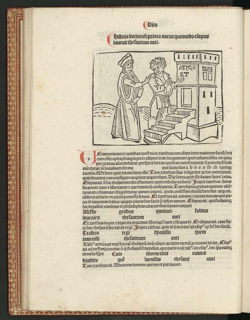 Fabule [et] vita Esopi, cum fabulis Auiani, Alfonsij, Pogij Florentini, [et] aliorum, cum optimo co[m]mento, bene diligenterq[ue] correcte [et] emendate.