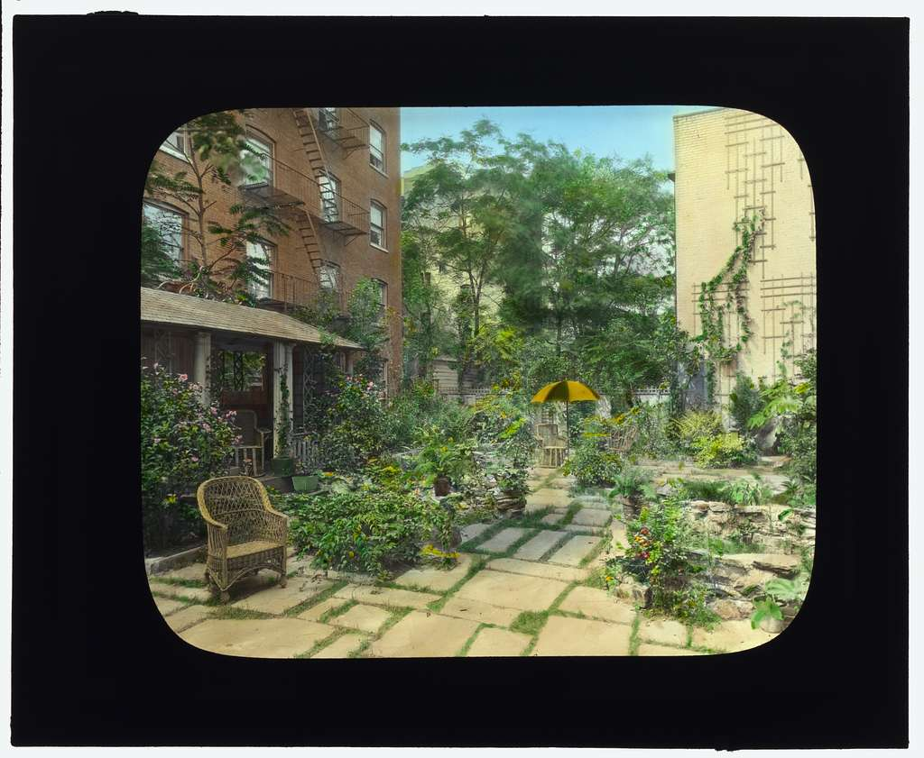 "[""Flagstones,"" Charles Clinton Marshall house, 117 West 55th Street, New York, New York. Tea house/sleeping porch]"