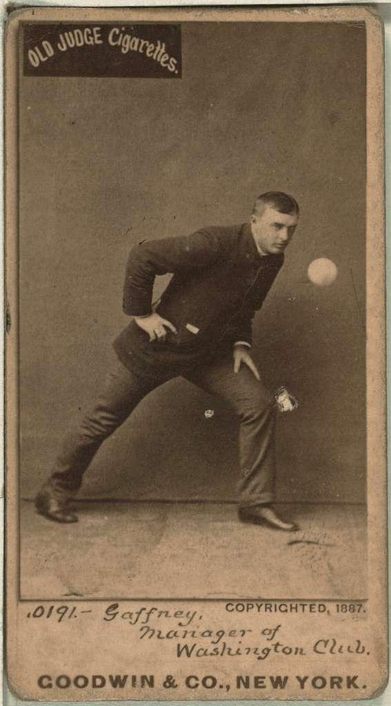 [John Gaffney, Washington Statesmen, baseball card portrait]