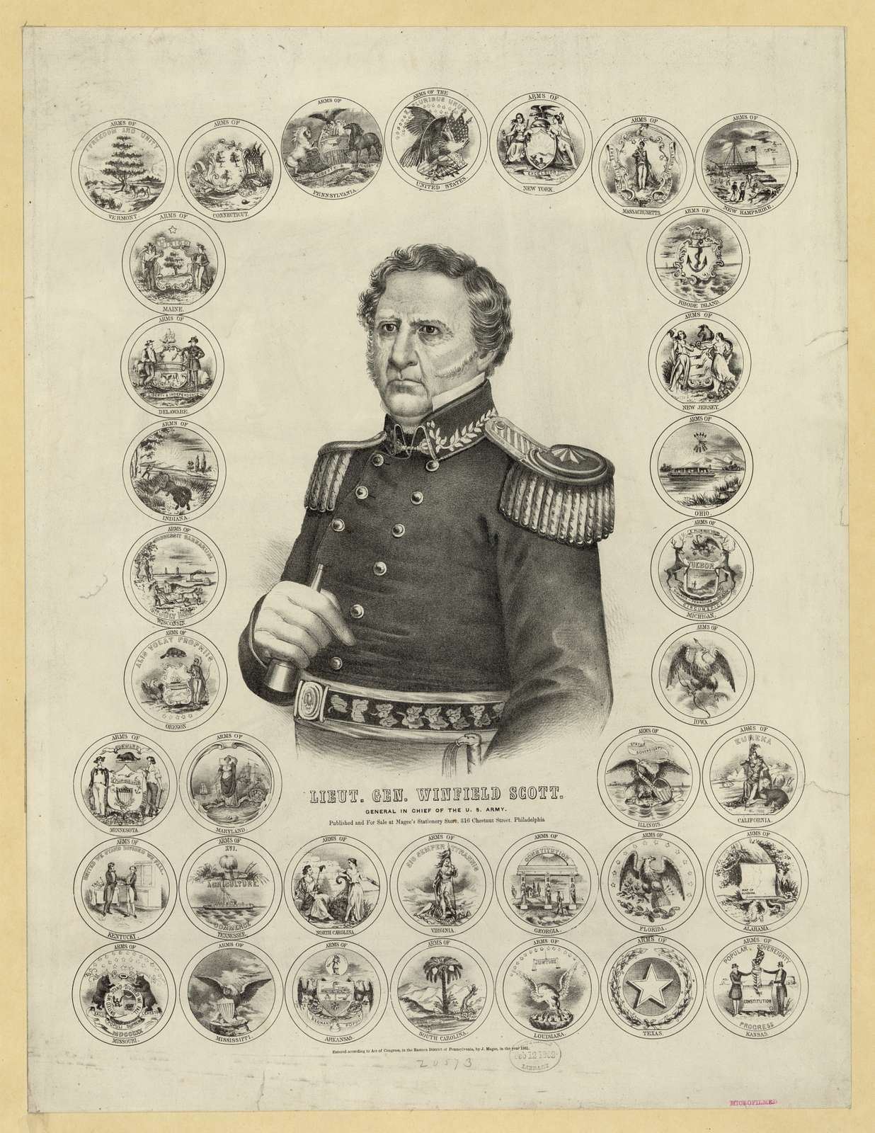 Lieut. Gen. Winfield Scott. General in Chief of the U.S. Army
