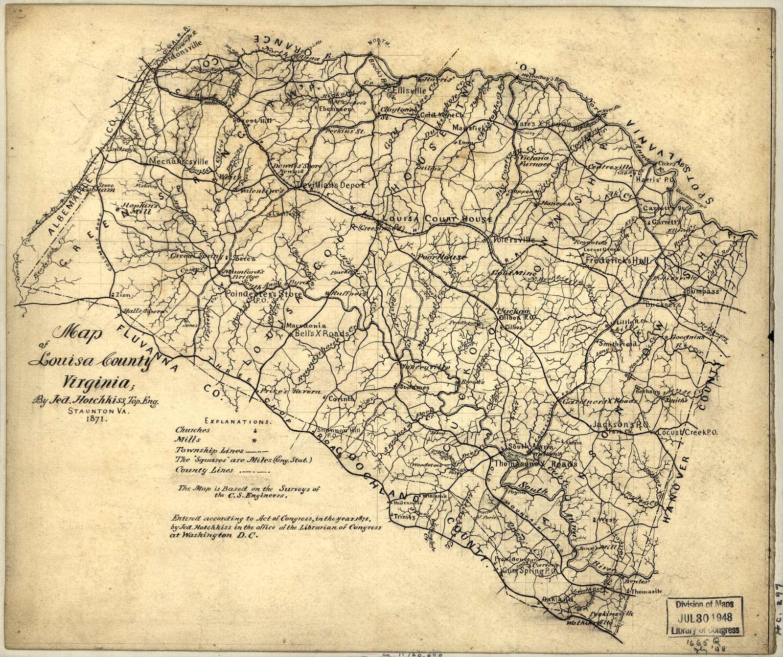 Map of Louisa County, Virginia /