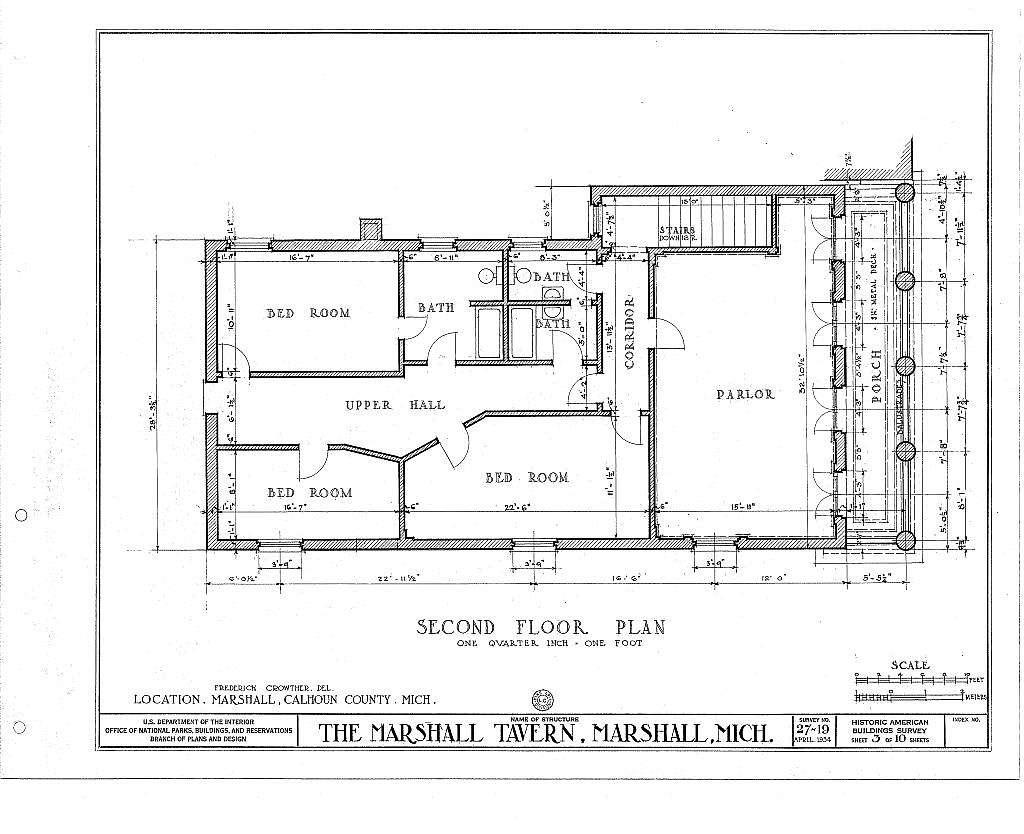 Marshall Tavern, Michigan Avenue & Eagle Street, Marshall, Calhoun County, MI