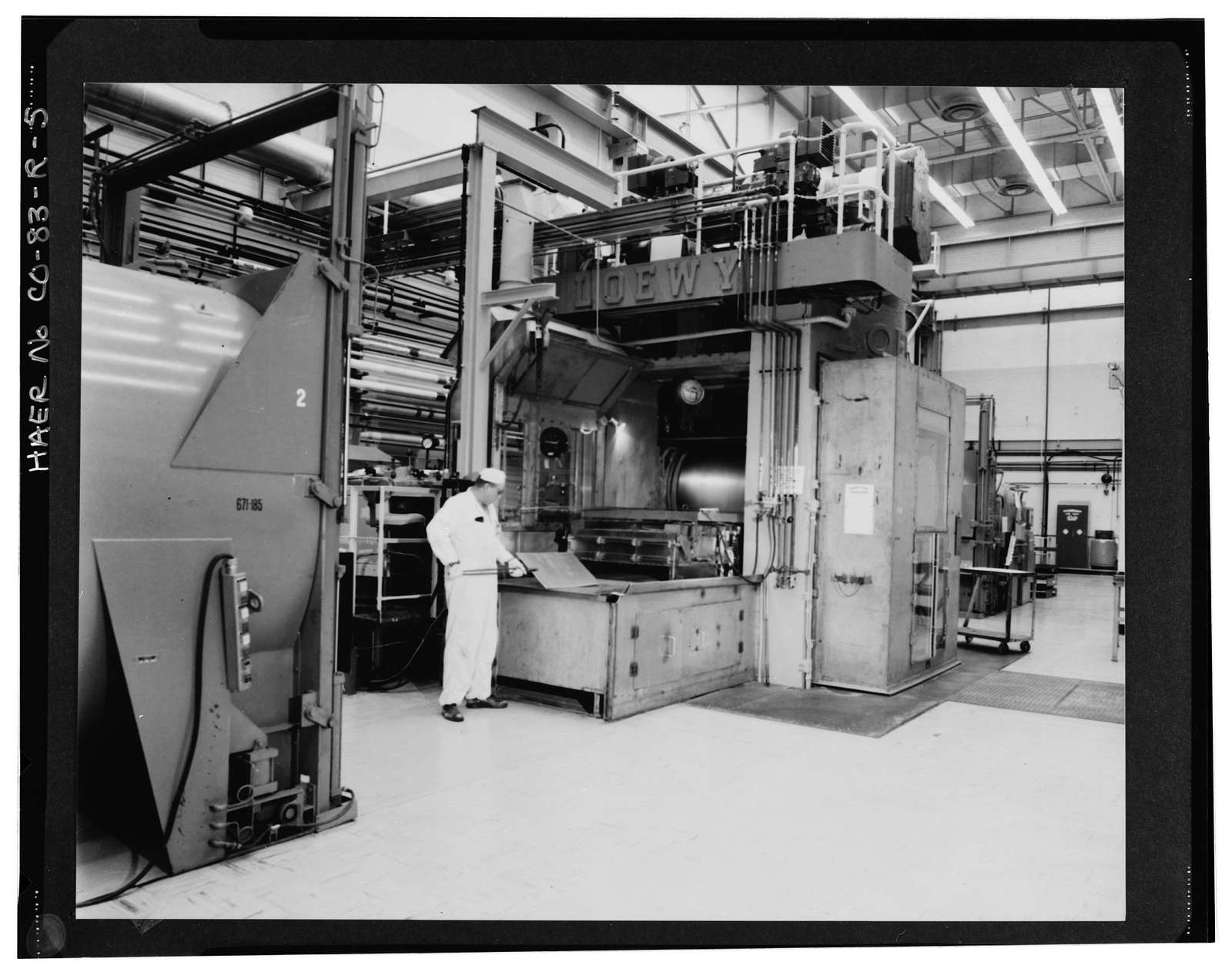 Rocky Flats Plant, Uranium Rolling & Forming Operations, Southeast section of plant, southeast quadrant of intersection of Central Avenue & Eighth Street, Golden, Jefferson County, CO