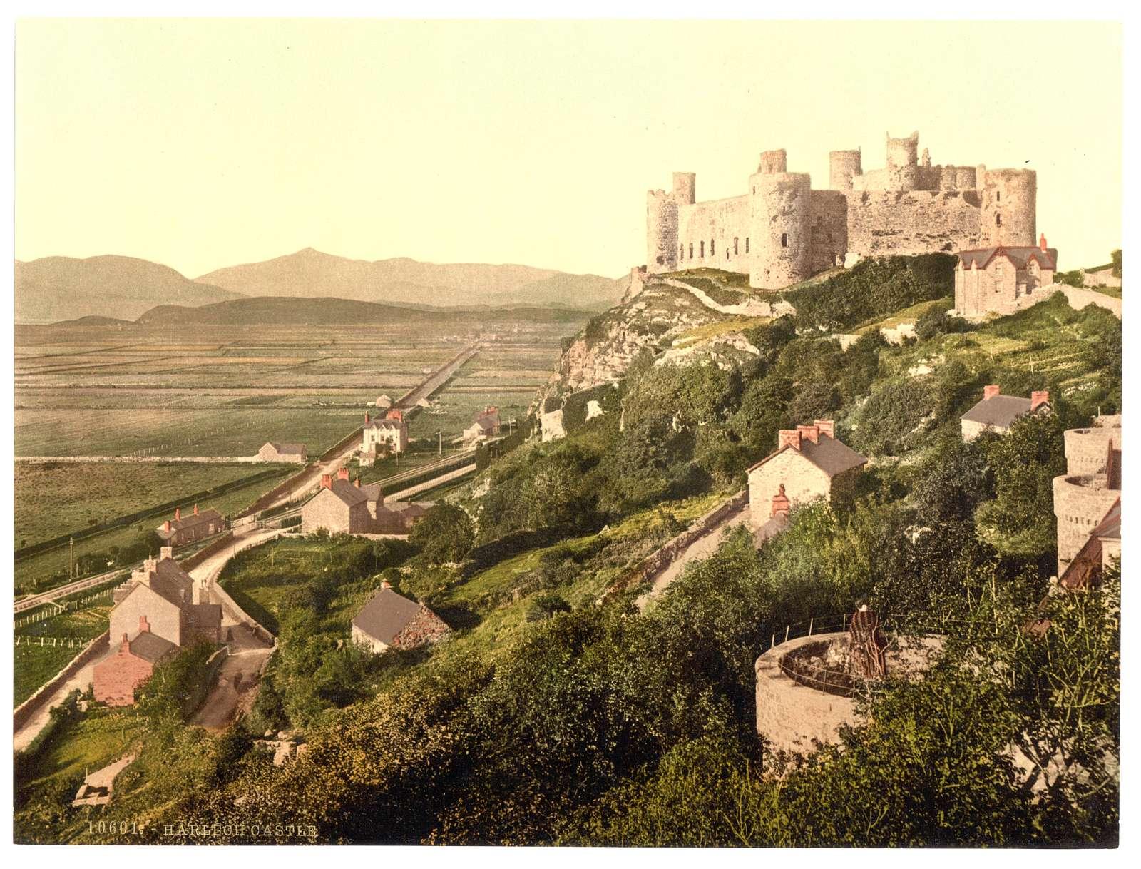 [The castle, Harlech Castle, Wales]