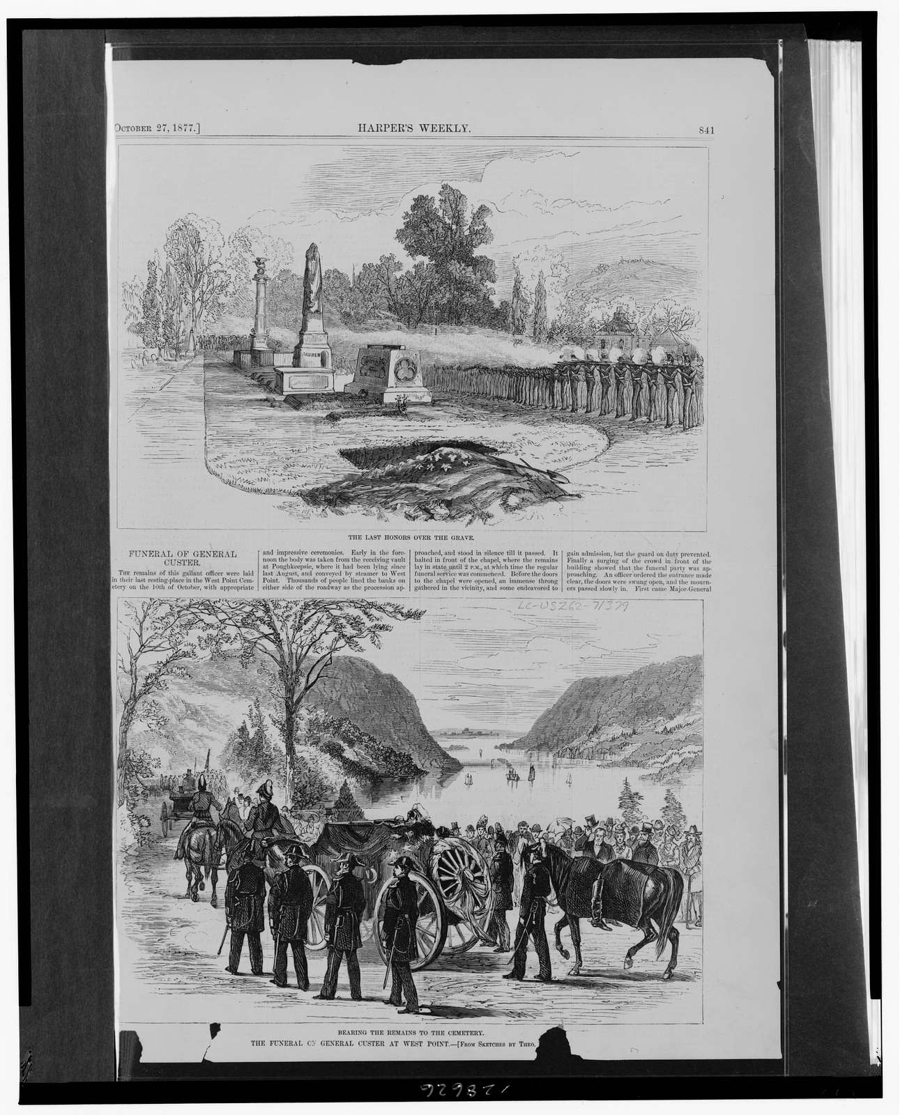 The funeral of General Custer at West Point / from sketches by Theo. [...].