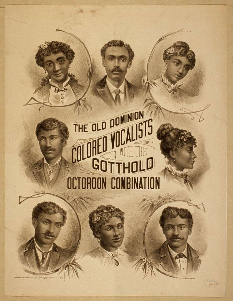 The Old Dominion Colored Vocalists with the Gotthold Octoroon Combination