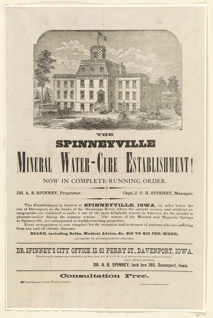 The Spinneyville mineral water-cure establishment!