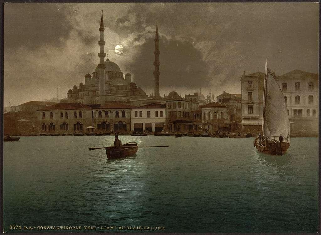 [Yeni-Djama (i.e., Yeni Cami) by moonlight, Constantinople, Turkey]