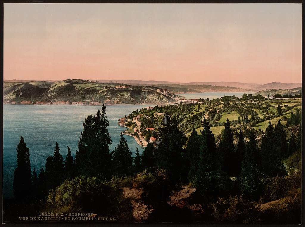 [Bosphorus (i.e., Bosporus), view from Kuleli, Constantinople, Turkey]