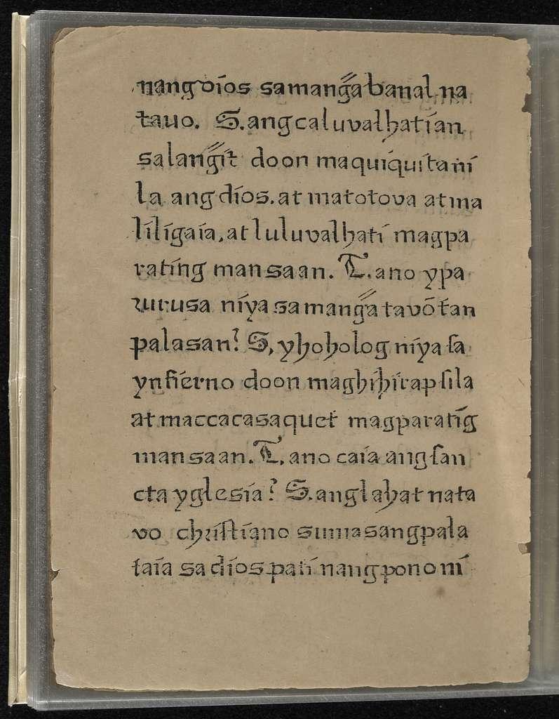 Doctrina Christiana, en lengua española y tagala ...