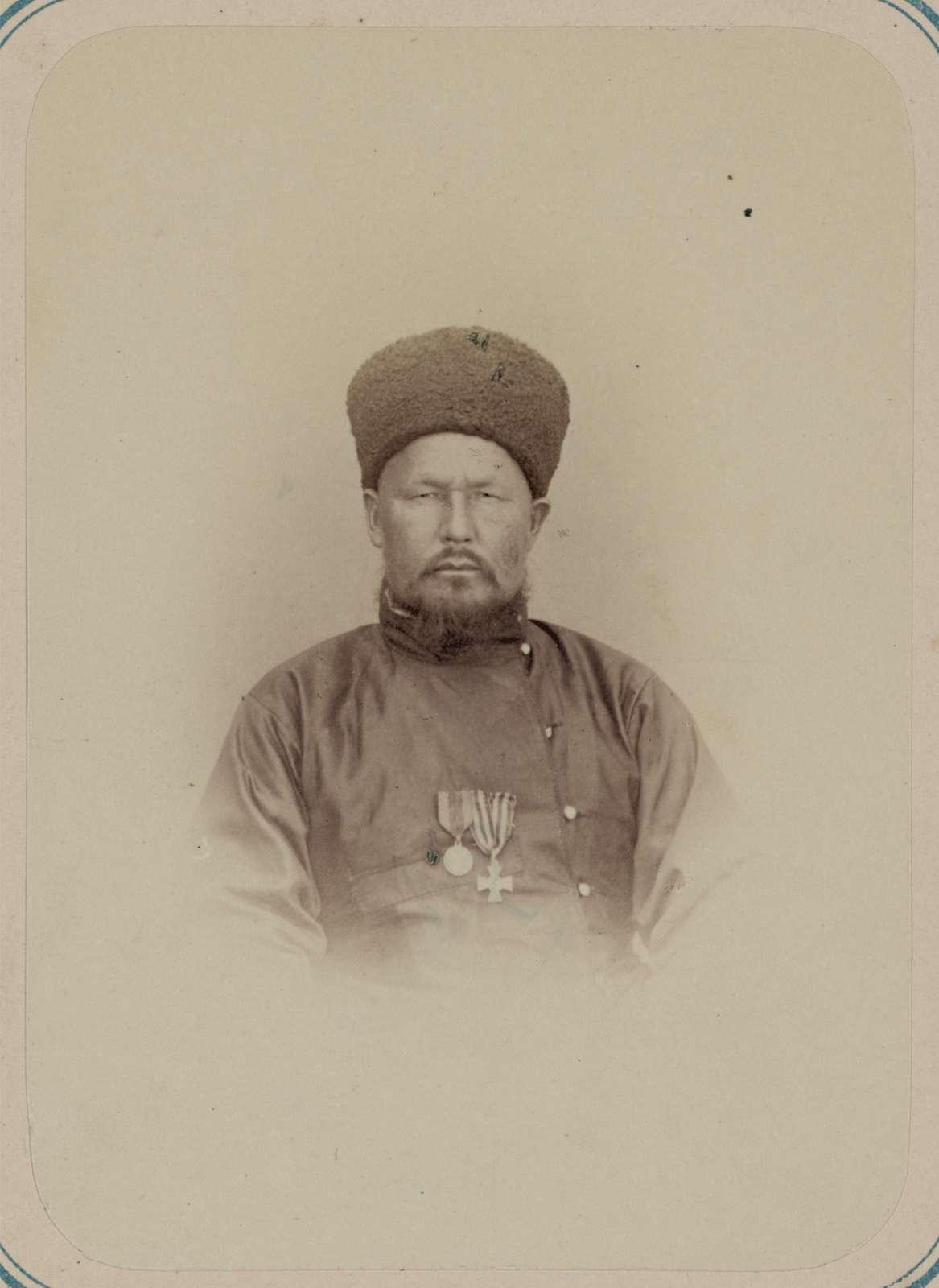 Georgievskie kavalery imieiushchie znaki otlichiia voennago ordena. Za vziatie Ak-Mecheti (forta perovskii) 22 Iiunia 1853 g. Kirgiz Safarov