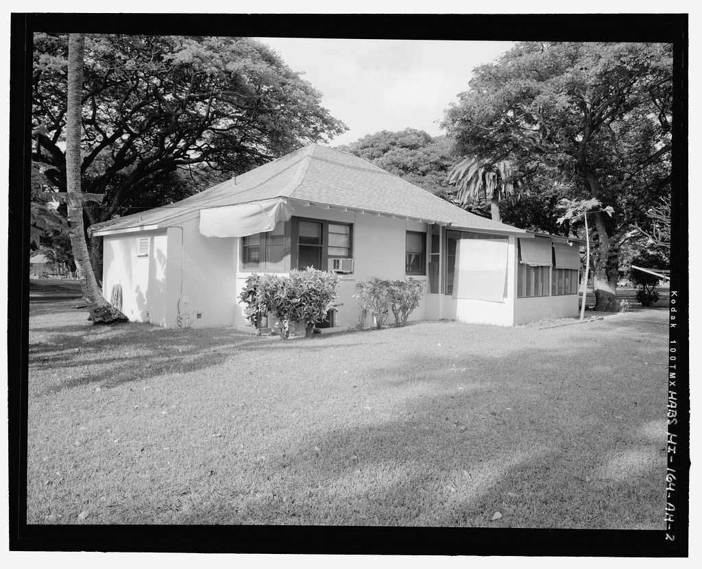 Hickam Field, NCO Housing Type 4, 212 Tenth Street, Honolulu, Honolulu County, HI
