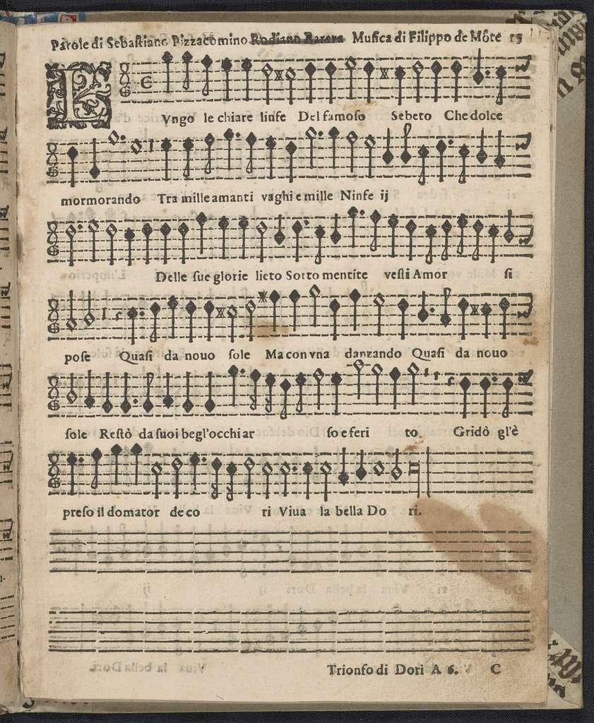 Il  trionfo di Dori, descritto da diversi, et posto in musica, à sei voci, da altretanti autori
