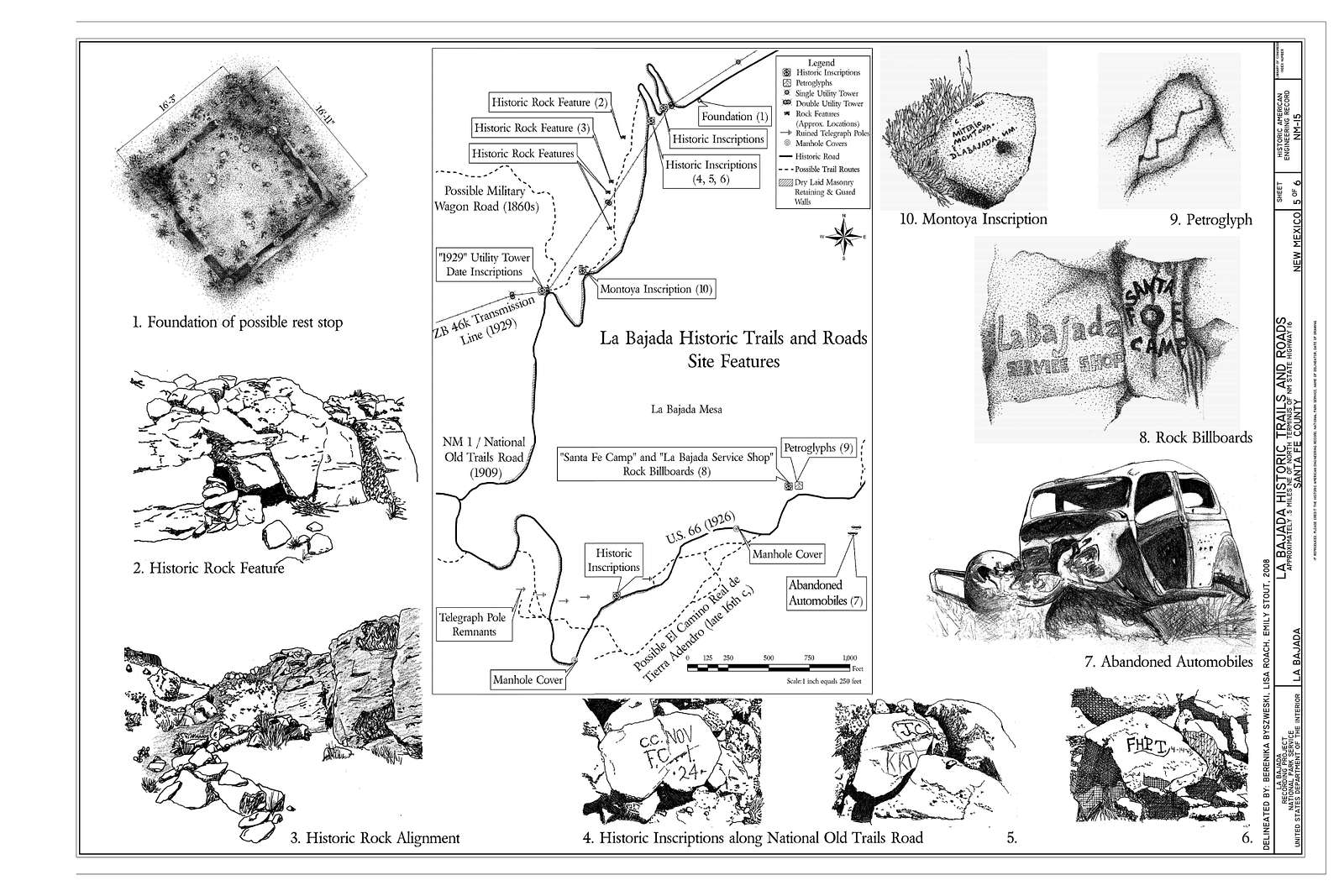 La Bajada Historic Trails and Roads, Approximately 1 mile East/Northeast of intersection of State Highway 16 and Indian Service Road 841, La Bajada, Santa Fe County, NM