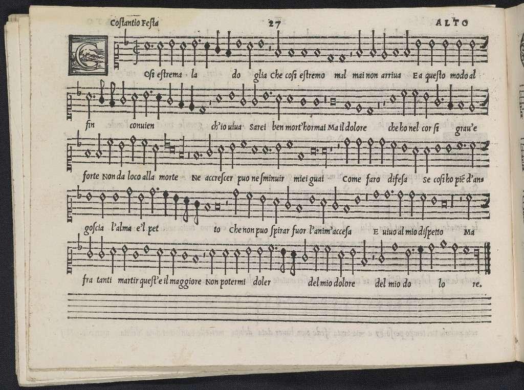 Madrigali di Verdelot a sei insieme altri madrigali de diversi eccellentissimi autori