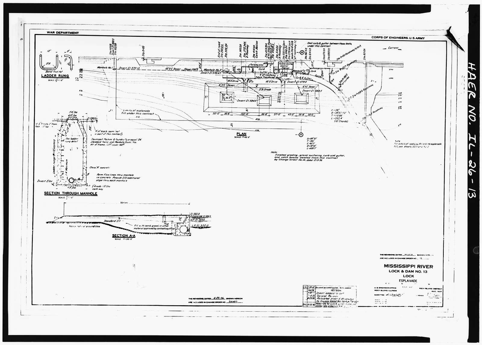 Mississippi River 9-Foot Channel Project, Lock & Dam No. 13, Upper Mississippi River, Fulton, Whiteside County, IL