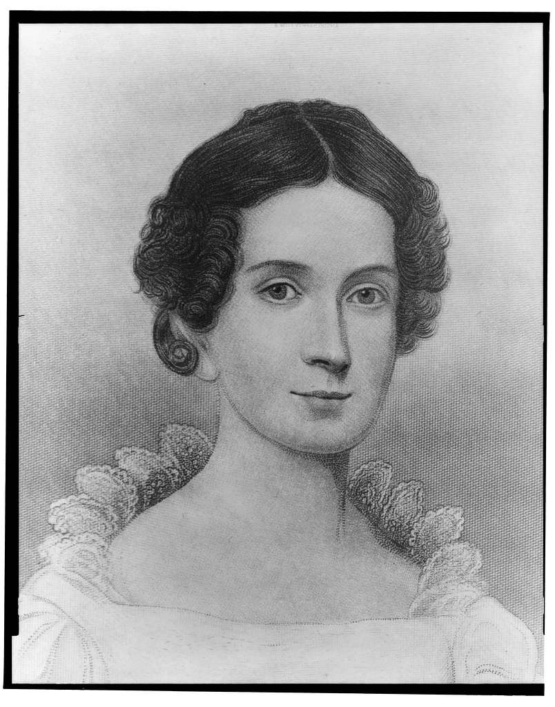 [Mrs. John Tyler, head-and-shoulders portrait, facing left]