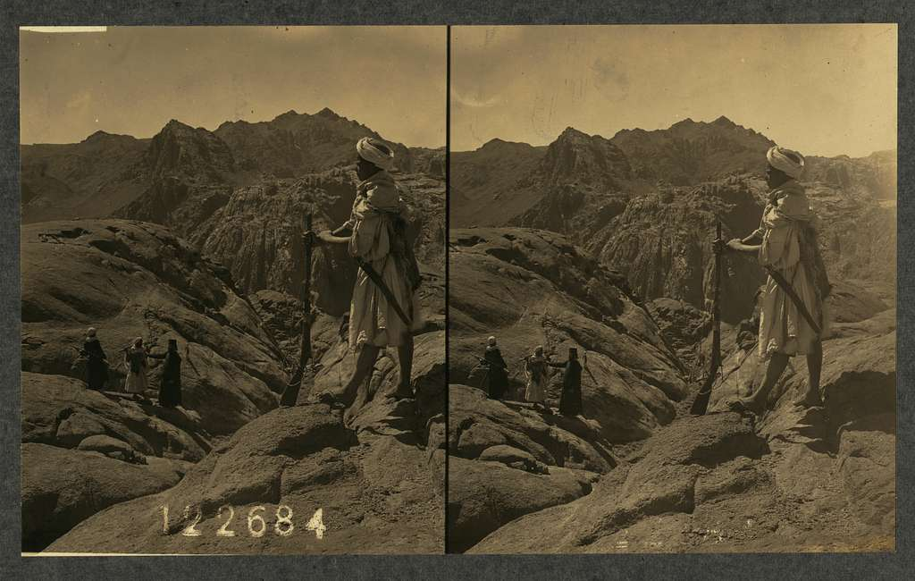 Mt. Sinai from the north, viewed from an elevation of 6740 ft. from the summit of Jebel Meraja
