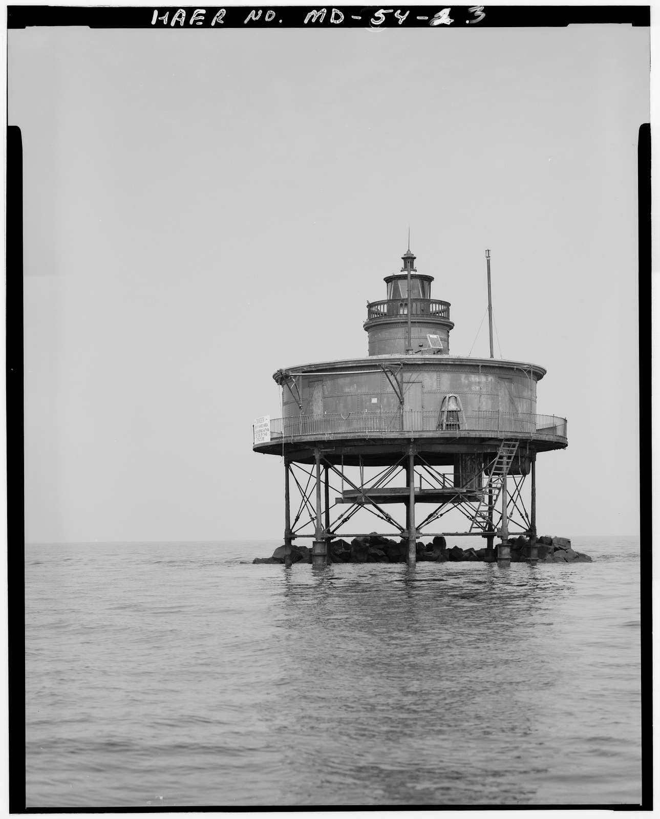 Seven Foot Knoll Lighthouse, Mouth of Patapsco River, Riviera Beach, Anne Arundel County, MD