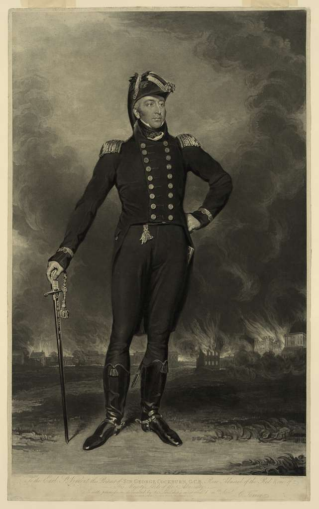 Sir George Cockburn, G.C.B., rear admiral of the Red & one of his Majesty's lords of the admiralty / painted by I.J. Halls, Esqr. ; engraved by C. Turner.