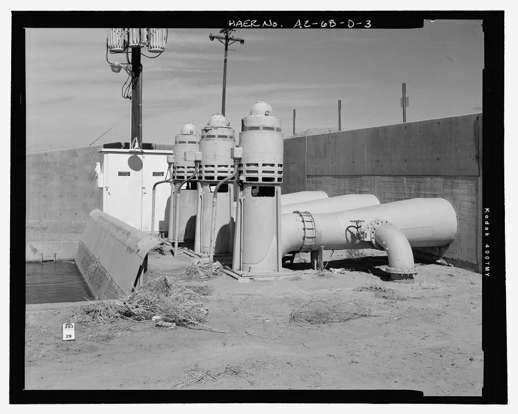 Wellton-Mohawk Irrigation System, Relift Station, Texas Hill Canal 2.5, Northern Terminus of Avenue 51 East, approximately .5 mile south of Union Pacific Railroad, Wellton, Yuma County, AZ